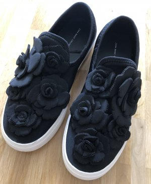 Zara Basic Slip-on noir-blanc tissu mixte