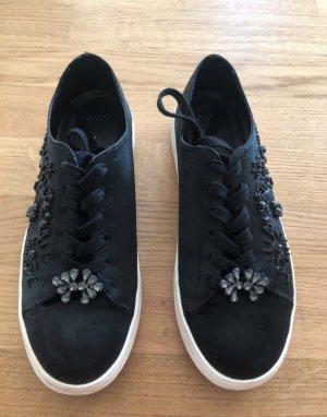 Zara Schuhe Sneaker aus Satin mit Perlen bestickt Gr 40