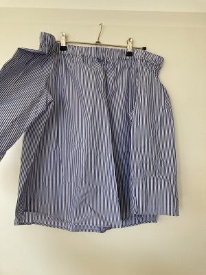 H&M Blusa tipo Carmen blanco-azul