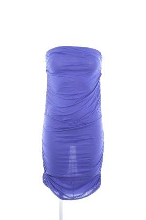 Zara schulterfreies Kleid blau extravaganter Stil