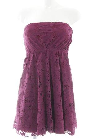 Zara schulterfreies Kleid violett Casual-Look
