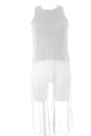 Zara schulterfreies Top hellgrau Street-Fashion-Look