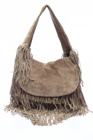 Zara Bolsa de hombro marrón look casual