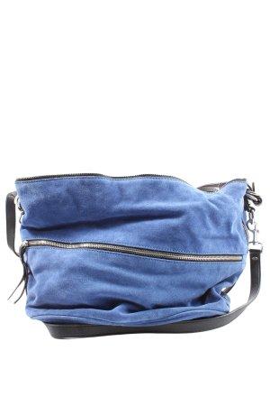 Zara Schultertasche blau Casual-Look