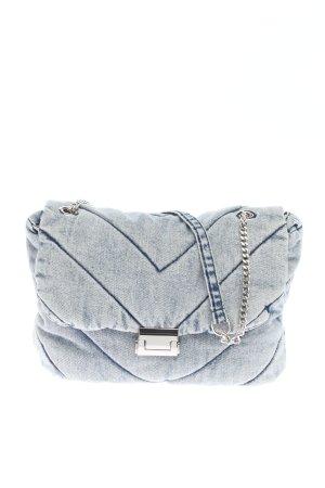 Zara Schultertasche blau Steppmuster Casual-Look