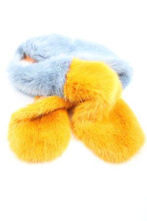 Zara Scialle blu-giallo pallido stile casual