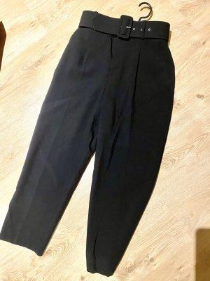 ZARA Schwarz High-waisted Hose mit Gürtel S