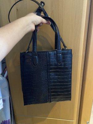 Zara schwarz midi tote Handtasche Umhängetasche