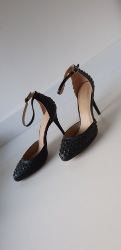 zara schwarze High Heel Gr. 41 im Valentino Stil, 10 cm Absatz, Pump, Sandalette