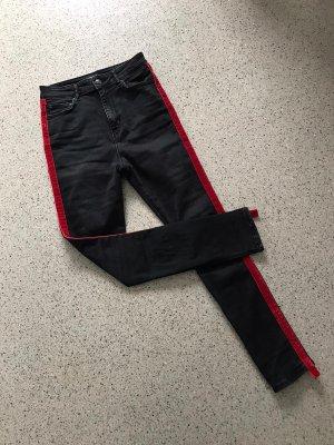 Zara schwarze Jeans High Waist Skinny
