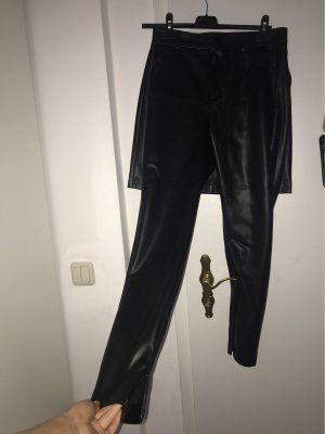 Zara schwarze lederhose
