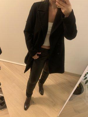 Zara schwarze Mantel mit knöpfen - sehr guter zustand