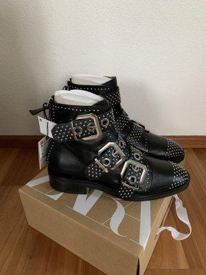 Zara schwarze Stiefeletten