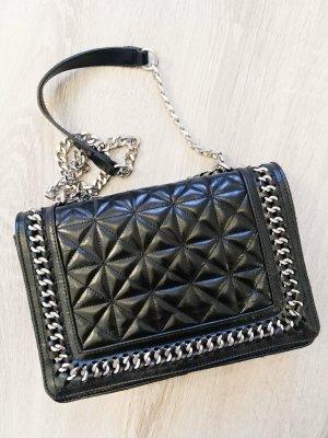 Zara schwarze Umhängetasche Clutch