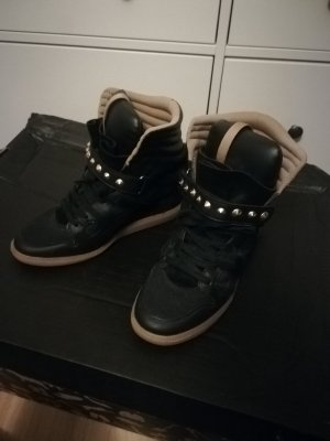 Zara Wedge Sneaker black-gold-colored