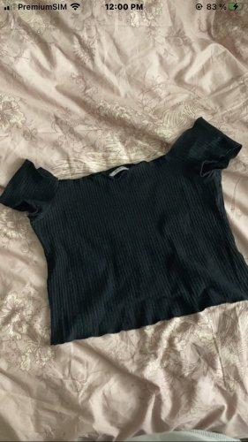 Zara Camisa recortada negro