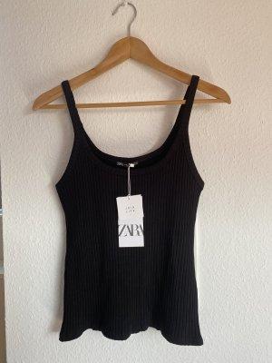 Zara schwarzes Strick Top S