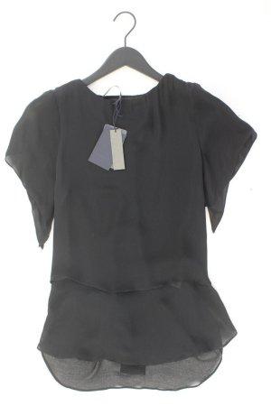 Zara Blusa de seda negro Seda