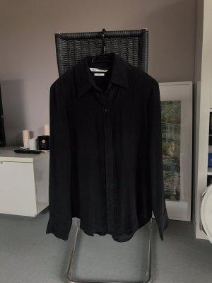 Zara Seidenbluse schwarz matt 34xs sehr guter Zustand