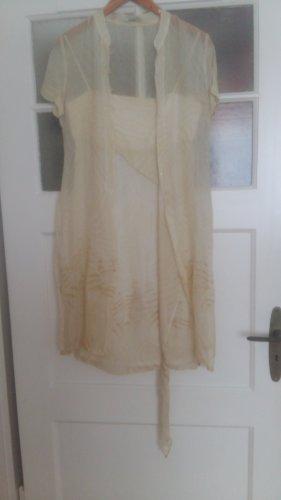 Zara Seidenkleid mit Überwurf