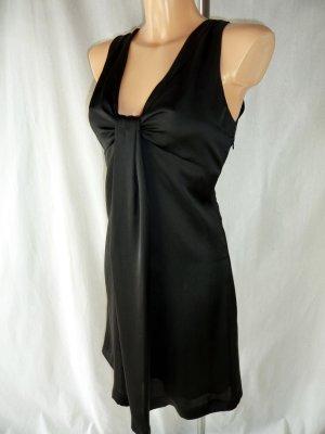 Zara seidiges Kleid in Schwarz Gr. S