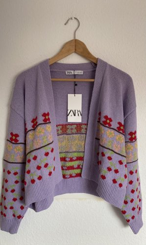 Zara Twin Set punto púrpura-lila