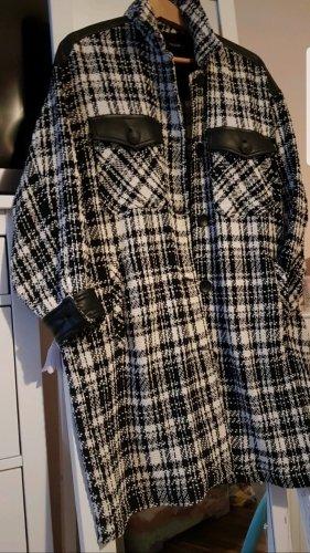 Zara Tweed Blazer white-black