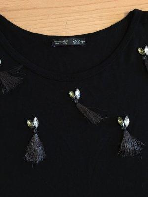 Zara Camicia lunga nero-grigio
