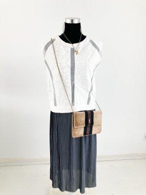 Zara Shirt ärmellos Weiss M 38 40 Sommer Tanktop T-Shirt Baumwolle