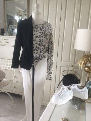 Zara Shirt Animalprint schwarz weiß Gr. L neu mit Etikett