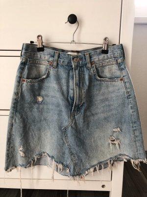 Zara Jupe en jeans bleu azur