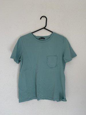 Zara Shirt blau wie NEU Größe M