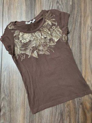 Zara Shirt Blüten gold Gr. M