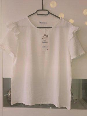 Zara Batik shirt wit