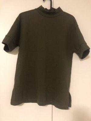 Zara Trafaluc Maglia a collo alto verde scuro-grigio-verde