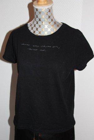 Zara T-shirt zwart-wit Katoen