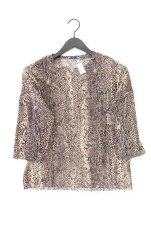 Zara Shirt Größe M mit Tierdruck 3/4 Ärmel braun aus Viskose