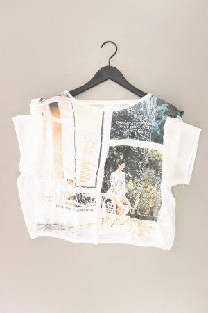 Zara Shirt Größe M weiß aus Polyester