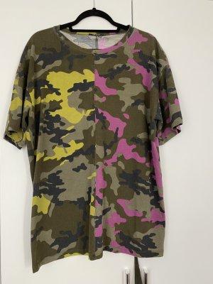 Zara Shirt Khaki Pink Gr. L guter Zustand T-Shirt