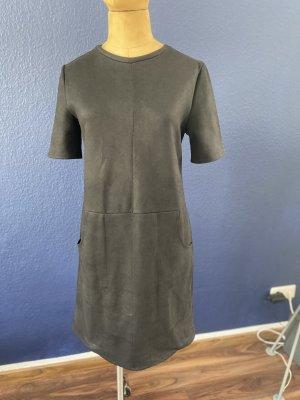 Zara Shirt Kleid in Leder Optik Gr S