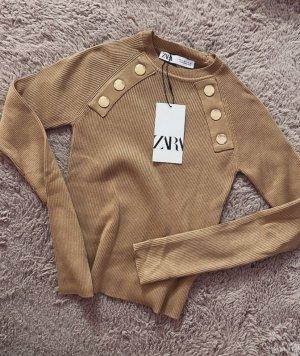 Zara Shirt langarm Pullover gerippt