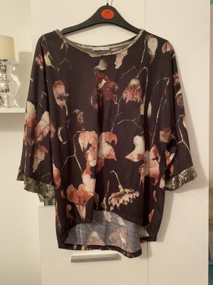 Zara Shirt M blumen Blogger top