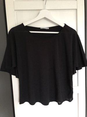 Zara Shirt mit Cape schwarz