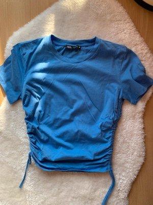 Zara Shirt mit Raffung