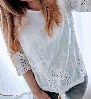 Zara Shirt mit Spitze