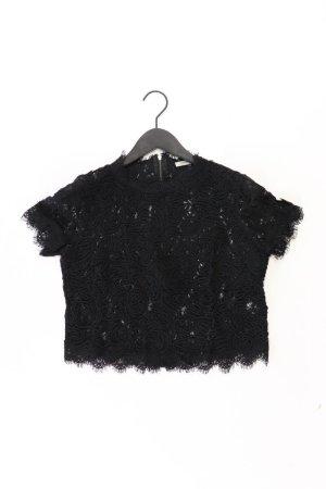 Zara Shirt mit Spitze Größe M Kurzarm schwarz aus Polyester