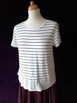 Zara Shirt mit Streifen maritim in M