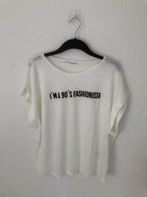 Zara Shirt mit Textprint