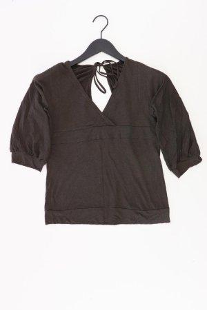 Zara Shirt mit V-Ausschnitt Größe L neuwertig 3/4 Ärmel braun