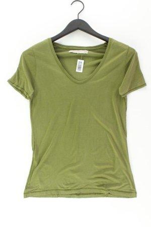 Zara Shirt mit V-Ausschnitt Größe M Kurzarm olivgrün
